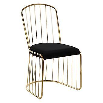 Dining Chair Dekodonia Polyester Metal Steel (50 x 50 x 89 cm)