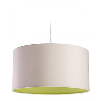 Lámpara Colgante Zeta, Crema / Verde