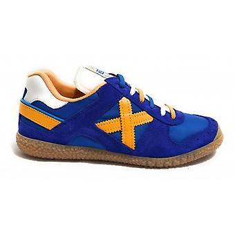 Shoes Unisex Munich Sneaker Goal Blue Royal/ Orange Fabric/ Suede U18mu24