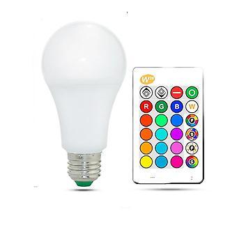 Rgb Led Bulb Lights - Värikäs led-lamppu Ir Remote Control + memory Mode