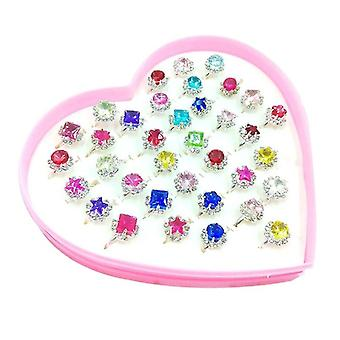 Children, Kids, Little, Jewelry Adjustable, Rings In Box, Pretend Play And