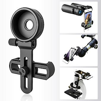 Upgrade Universal Cell Phone Adapter Bracket Clip Mount Soft Rubber Material for Binocular Monocular Spotting Scope Telescope