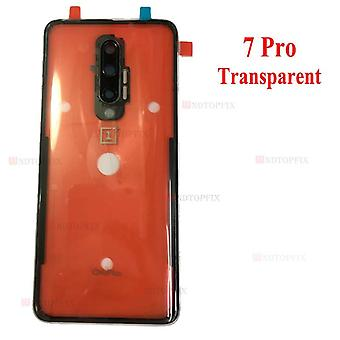 Oneplus 6 6t Back Battery Cover Door Rear Glass Case + Camera Lens