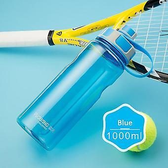 Botella de agua con anillo de transporte a prueba de fugas bebida spout sport botella camping fitness al aire libre 1000ml