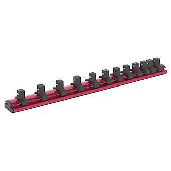 Trilho de retenção Sealey Ak27083 soquete bloqueio magnético 3/8Sq Drive 12 clipes