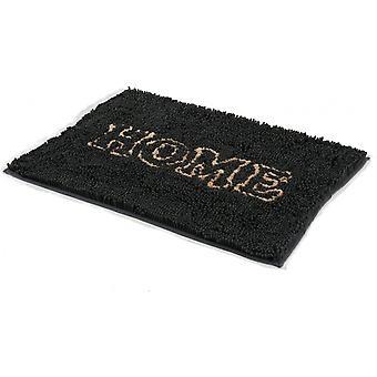foot mat Home 90 x 65 cm microfiber black