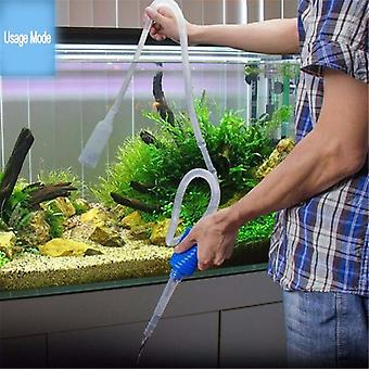 1Pc Semi-automatisk Akvarium Rent Vakuum Vand Skift Changer Grus Akvarium Simple Fish Tank Vakuum Siphon Pumpe Renere