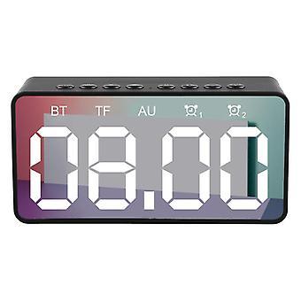 BT506 Wireless bluetooth 5.0 Speaker LED Display Dual Alarm Clock TF Card 4D Bass Stereo Spea