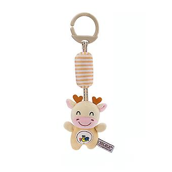 Bull Baby Hanging Toys Children Rattle Toys With Sound Paper Chime Bb Device Soft Plush Rattling Doll