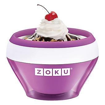 Zoku Sorveteiro + livro de receitas - Roxo - sorvete de 10 minutos iogurte congelado