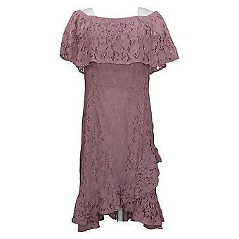 Isaac Mizrahi Live! Dress Convertible Lace Dress w/ Tulip Hem Pink A352283