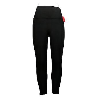 Spanx Women's Leggings Reg Ankle Length Ponte Hem Black A369379