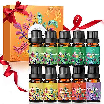 FengChun therisches l Set, 10 x 10 ml ätherisches Öl Set, Reines Duftl Aromatherapie entspannen Krper