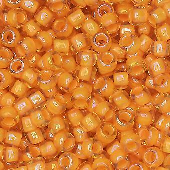 توهو بذور الخرز، الجولة 8/0 #950 'Jonquil / البرتقال المحروق اصطف'، 8 غرام
