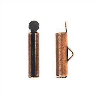 Nunn Design Band Sladdändar, Fat 17mm, 2 stycken, Antik koppar