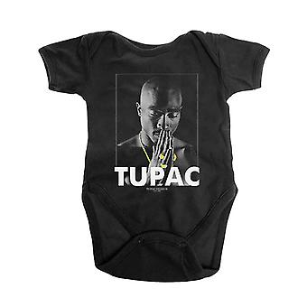 Tupac Baby Grow Praying Logo new Official Black 0 to 24 Months