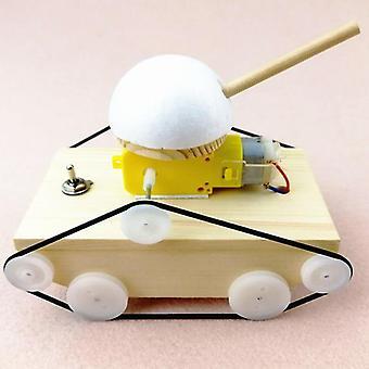 Деревянный танк науки игрушка, Cool Дети Creative Diy Сборка Танки Модель Kit,