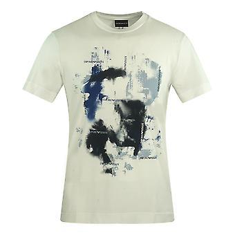 Emporio Armani Abstract Print White T-Shirt