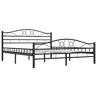 vidaXL Sängyn runko Black Steel 180×200 cm