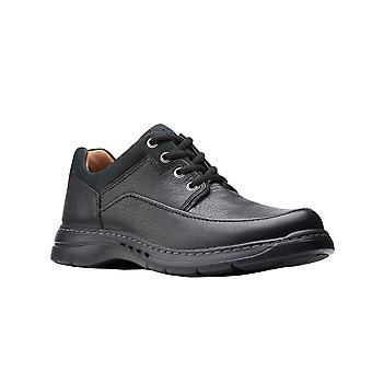 Clarks Mens Un Brawley Lace Leather Shoes
