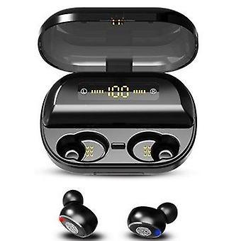 Bakeey tws bluetooth 5.0 earphone cvc8.0 noise cancelling stereo 4000mah power bank ipx7 waterproof headphone with mic