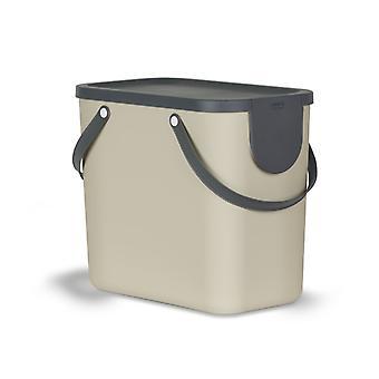 Rotho Albula Afvalscheidingsprullenbak 25L Cappuccino