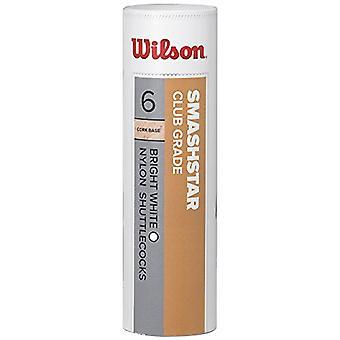 Wilson Smashstar Tube Shuttlecocks 78 (Snelle snelheid), Wit, Pak van 6