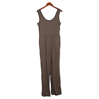 Anybody Jumpsuits Medium Cozy Knit Tank Jumpsuit One-Piece Brown A374513