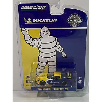 Chevy Corvette C6R 2009 Michelin Däck 1:64 Skala Greenlight 30074