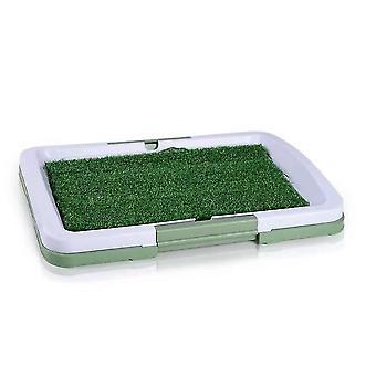 Zelená 46,5x34,5x6,5cm toaleta pre domáce zvieratá imitácia trávnika toaleta pre domáce zvieratá homi4675