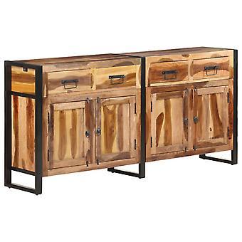 vidaXL Dressoir 172x35x80 cm Acacia massief hout met palissander afwerking