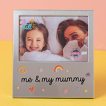 "5 ""x 3,5"" munter aluminium fotoramme - mig og min mor"