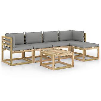 vidaXL 6-tlg. Garten-Lounge-Set mit Kissen Imprägniertes Kiefernholz
