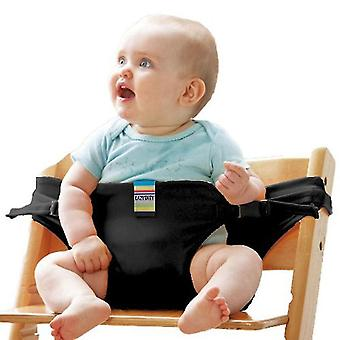 Dining Chair Safety Belt Baby Dining Chair Auxiliary Belt(Black)
