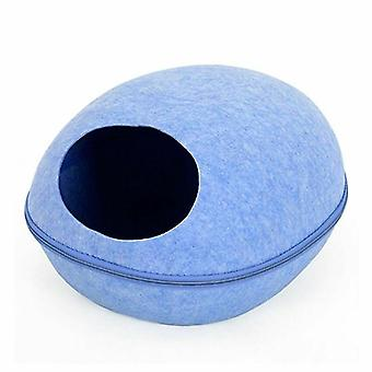 HooPet cat bed with pillow, blue