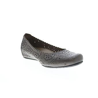 Earthies Adult Womens Bindi Leather Ballet Flats