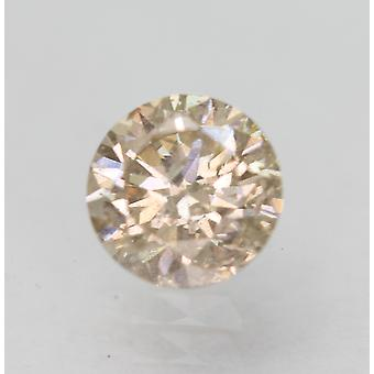 Certified 0.49 Carat Top Light Brown SI1 Round Brilliant Natural Diamond 5.08mm