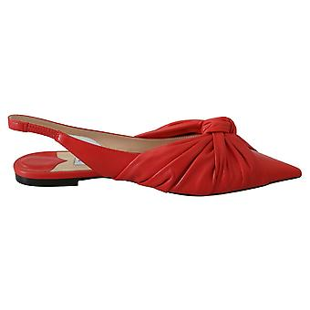 Annabell litteä torkut chili nahka litteät kengät