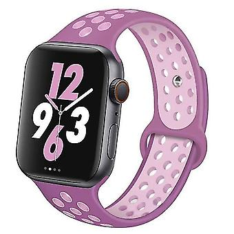 Silicone Wristband Suitable For Apple Watch-breathable Bracelet (set-23)
