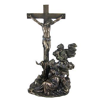 Kreuzigung gebräunte Oberfläche Statue Jesus Christ