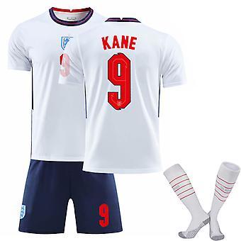 KANE #9 Miesten 2020/2021 Kausi Englanti Maajoukkue Koti Jalkapallo T-paidat Jersey Set for Kids Youths