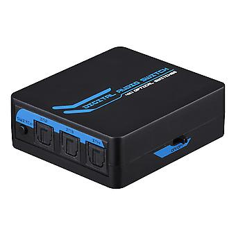 SPDIF/TOSLINK Digital Optical Audio Switch 4-1, incl. Remote, Black