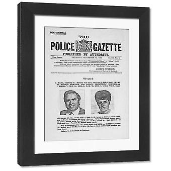 The Great Train Robbery. Large Framed Photo. The Great Train Robbery, 8th August 1963. Wanted.