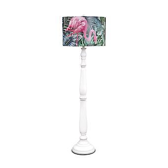 Fabulosa lámpara de pie tropical Flamingo