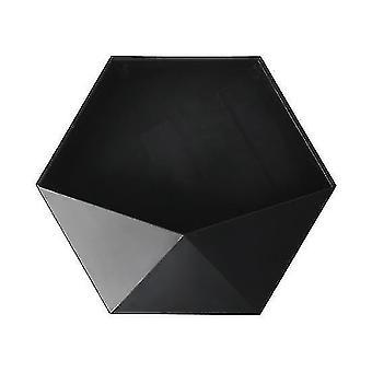 Wall shelves ledges nordic style punch free geometric hexagon wall shelves black