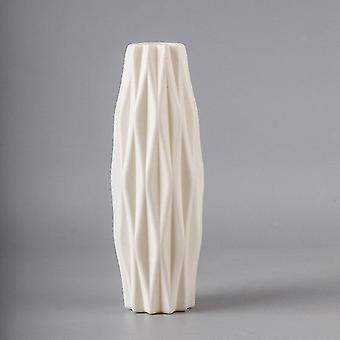 Nordisk stil geometrisk vas(Vit)