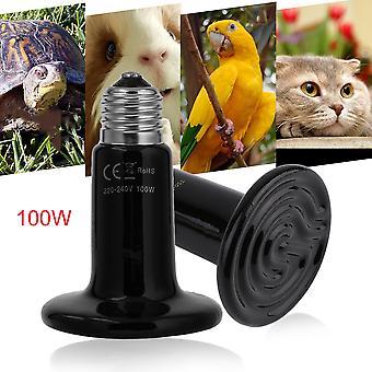 25w/50w/100w Céramique Émetteur de chaleur Ampoule Lampe Lampe Pour Reptile Pet Couveuse