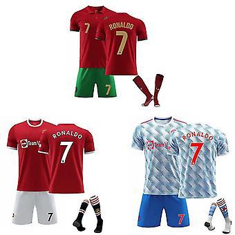 Cristiano Ronaldo Camiseta del Manchester United y Portugal, Camiseta Nº 7 (traje adulto)
