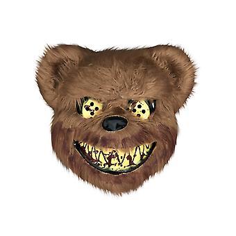 Bloody Bear Mask, Masquerade Horror Scary Headgear, Halloween Bar