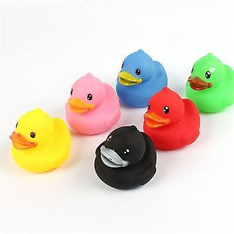 Helt nya 6-pack djur färgglada mjuka gummi badrum simning leksaker